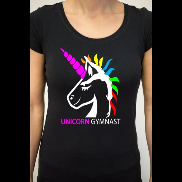 Licorne Unicorn Gymnast Tee-Shirt Femme