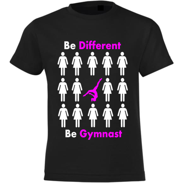 Be Different Be Gymnast Tee-Shirt Fille