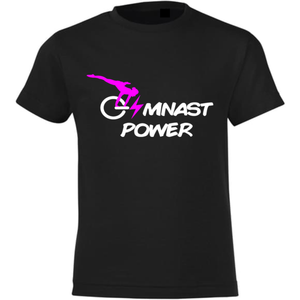 Gymnast Power Tee-Shirt Fille