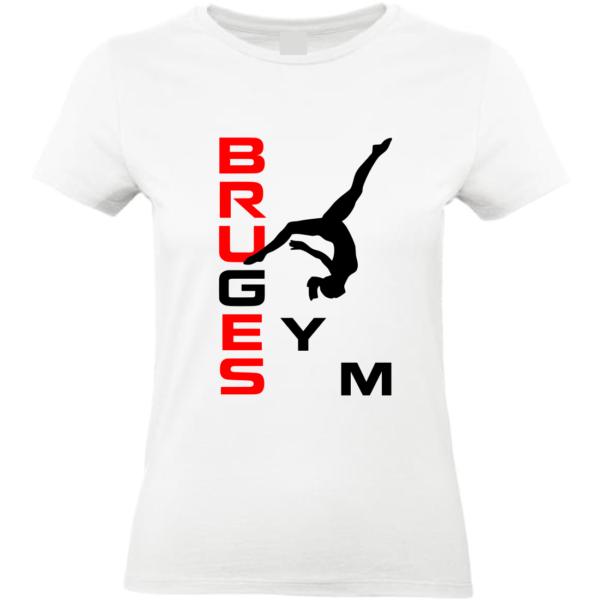 BRUGES Tee-Shirt Blanc Prénom ou Bruges Inclus(dos)