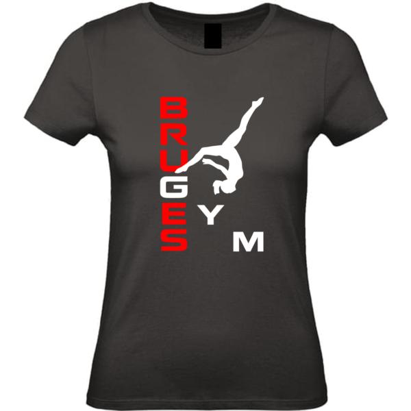 BRUGES Tee-Shirt Noir Prénom ou Bruges Inclus(dos)
