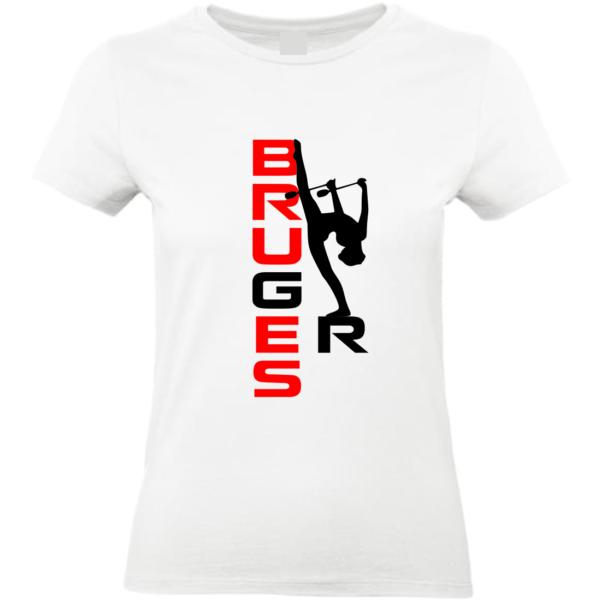 BRUGES GR Tee-Shirt Blanc Prénom ou Bruges Inclus(dos)
