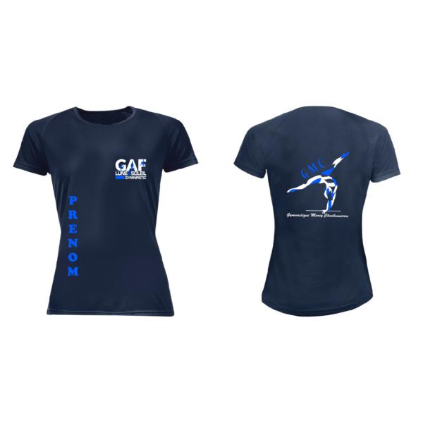 Tee-Shirt Bleu Marine GMC GAF +Prénom Inclus