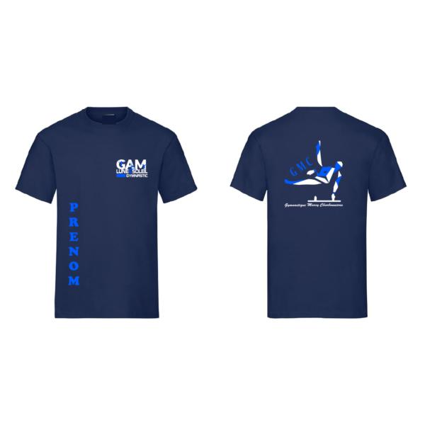 Tee-Shirt Bleu Marine GMC GAM +Prénom Inclus