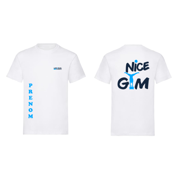 Tee-Shirt Garcon Logo NICE GAM +Prénom Inclus