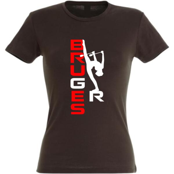 BRUGES GR Tee-Shirt Noir Prénom ou Bruges Inclus(dos)