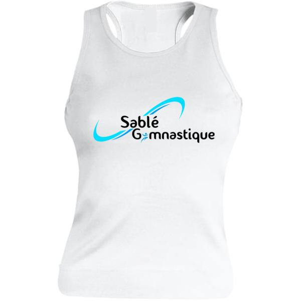 DEBARDEUR BLANC SABLE Gymnastique