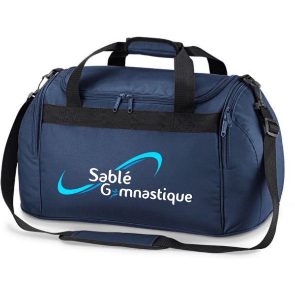 SAC SPORT BLEU MARINE SABLE Gymnastique+Prénom Inclus