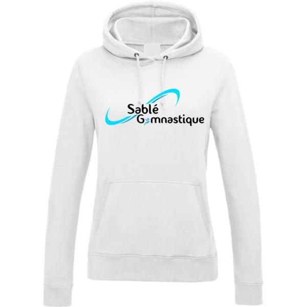 SWEAT CAPUCHE BLANC SABLE Gymnastique