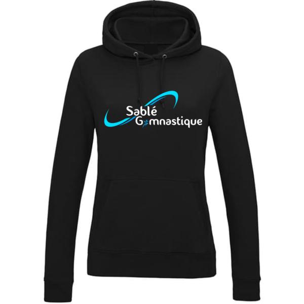 SWEAT CAPUCHE NOIR SABLE Gymnastique