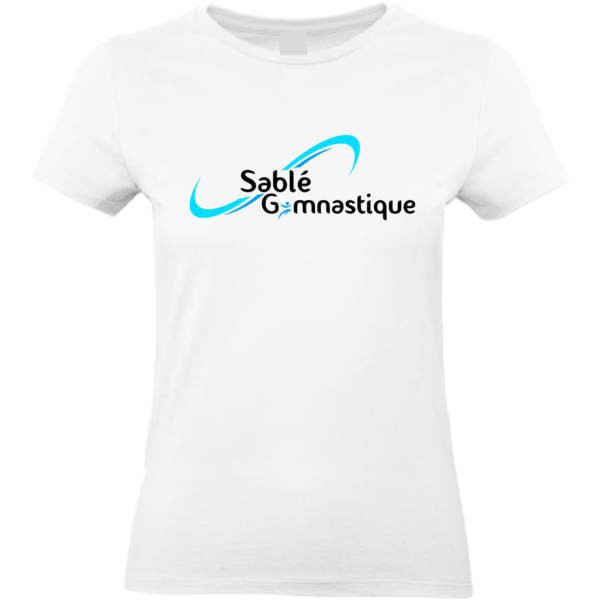 TEE-SHIRT BLANC SABLE Gymnastique