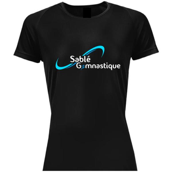 TEE-SHIRT NOIR SABLE Gymnastique