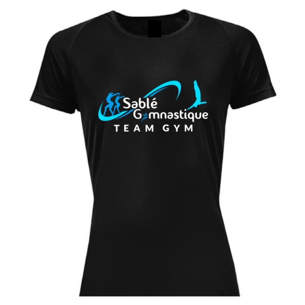 TEE-SHIRT Section TEAMGYM SABLE Gymnastique