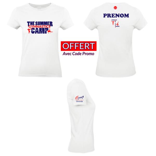Tee-shirt OFFERT Camp Sud-Ouest Gymnastique (Prénom+Logo Fédéral Inclus)